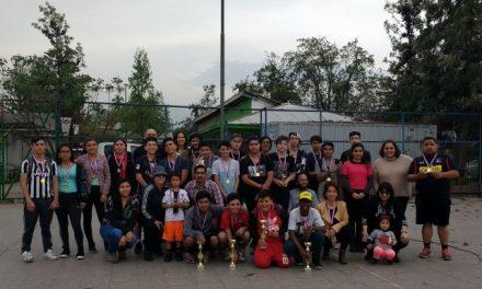 Copas y Medallas obtuvieron los jóvenes que participaron en el Campeonato 24 horas SENAME