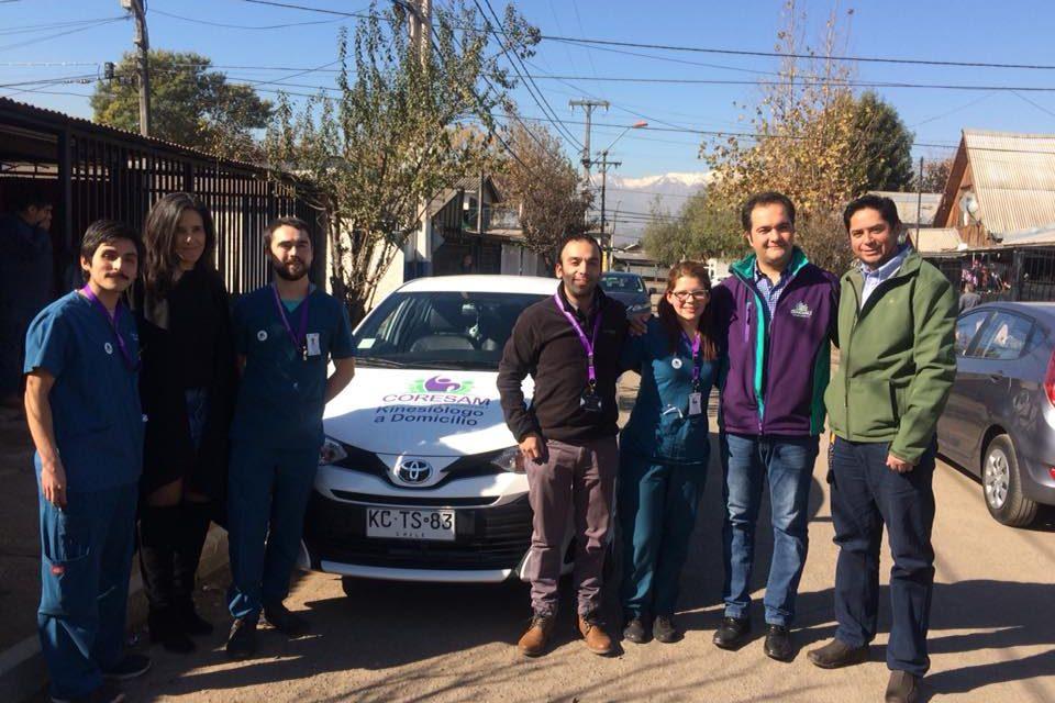 Kinesiólogos a domicilio para los vecinos de Conchalí