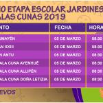 INICIO ETAPA ESCOLAR JARDINES INFANTILES Y SALAS CUNAS 2019