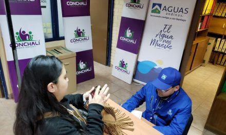 FAMILIAS DE CONCHALÍ REGULARIZARON SUS DEUDAS DE SERVICIO DE AGUA GRACIAS A LOS PROGRAMAS ESPECIALES DE AGUAS ANDINAS