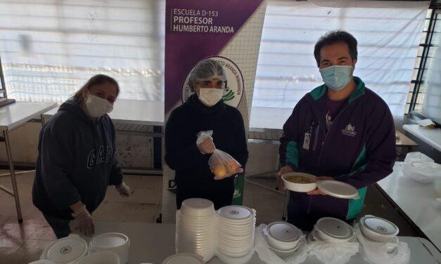 ESCUELA P. HUMBERTO ARANDA SE SUMA A LOS ALMUERZO SOLIDARIO