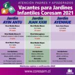 VACANTES PARA JARDINES INFANTILES JUNJI