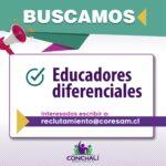 Oferta laboral Educadores diferenciales